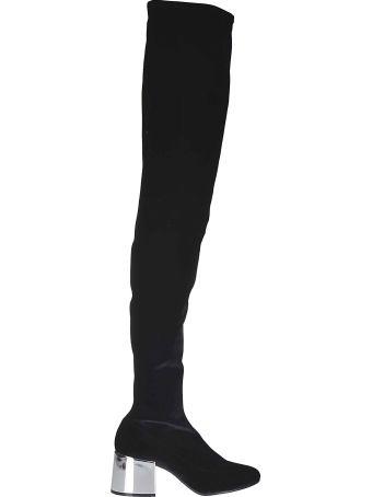 Maison Margiela Paris Metallic Heel Over-the-knee Boots