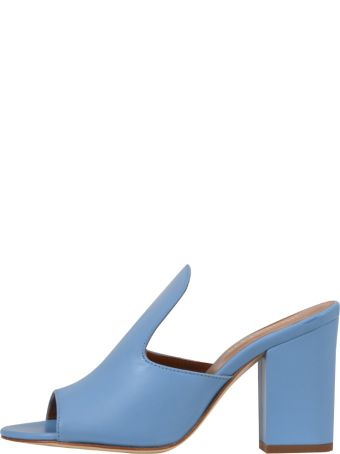 Paris Texas 8cm Mules Light Blue