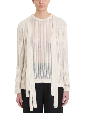 Maison Flaneur Knit Beige Cotton Cardigan