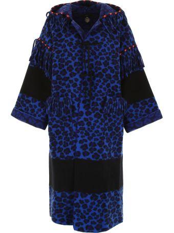 Alanui Leopard-printed Felt Coat