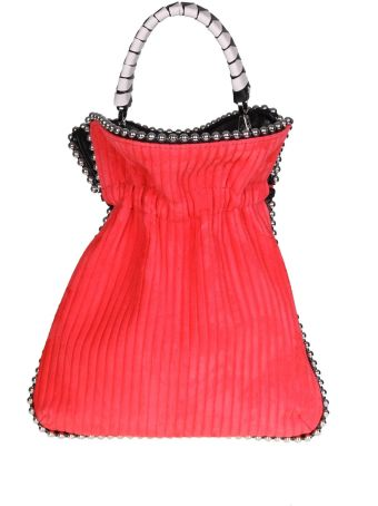 Les Petits Joueurs Bag Trilly Whip Stitch Canneté In Nappa Color Red