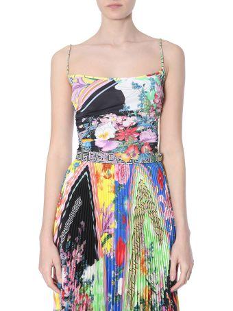 Versace Bloom Print Top