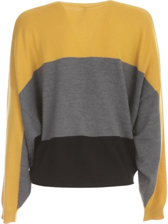 PierAntonioGaspari Short Boat Neck Sweater Tricolour