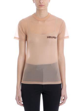 Helmut Lang T-shirt Polyamide Pink Transparent