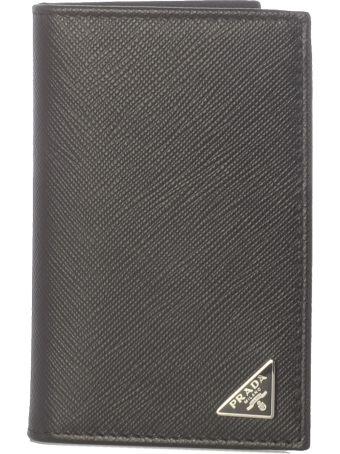 Prada Triangle Logo Wallet