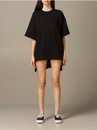 Paciotti 4US Dress Paciotti 4us Maxi T-shirt Dress With Logo And Rear Fringes