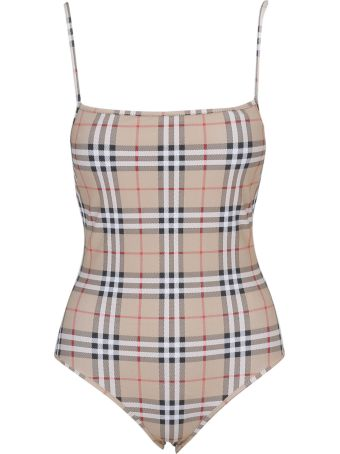 Burberry Checked One-piece Swimsuit