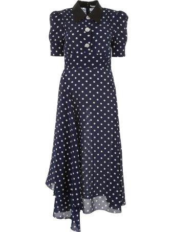 Alessandra Rich Polka Dots Dress