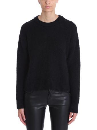 Laneus Black Mohair Wool Sweater