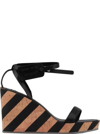 Off-White Striped Wedge