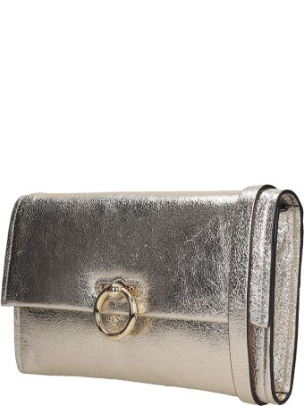 Rebecca Minkoff Jean  Clutch In Gold Leather