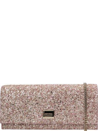 Jimmy Choo Pink Glitter Lilia Bag