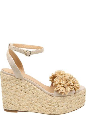 Paloma Barcelò Paloma Barcelo 'sandals In Suede Beige Color