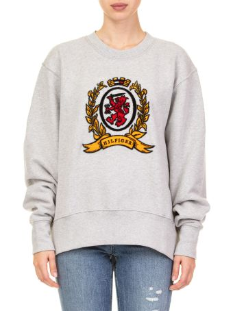 Tommy Hilfiger Large Crest Cotton Blend Sweatshirt