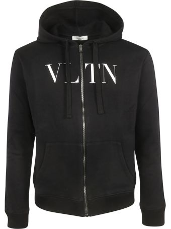 Valentino Vltn Zipped Hoodie