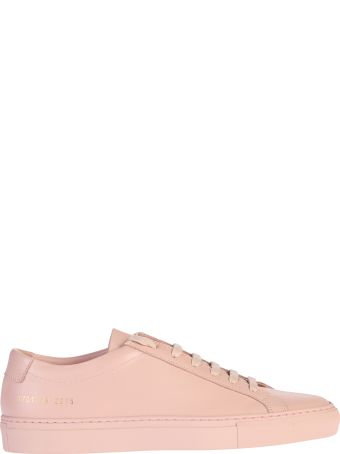 Common Projects Pink Lace Up Sneakers
