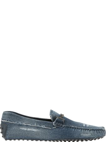 Tod's Cotton Jeans Loafer