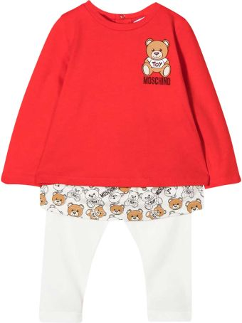 Moschino Two Pieces Set With Red Top