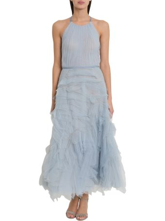 Marchesa Notte Flared Cocktail Dress