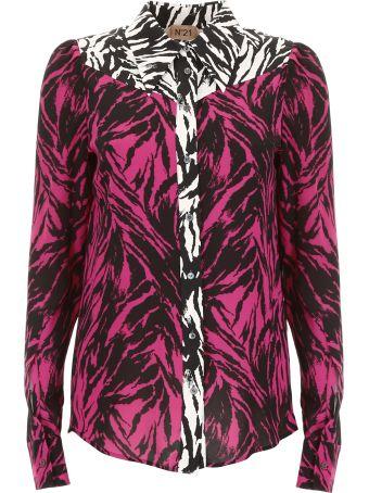 N.21 Bicolor Zebra Print Shirt