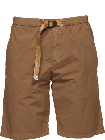 White Sand Belted Straight Leg Shorts