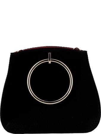 Les Petits Joueurs Black Velvet Handbag