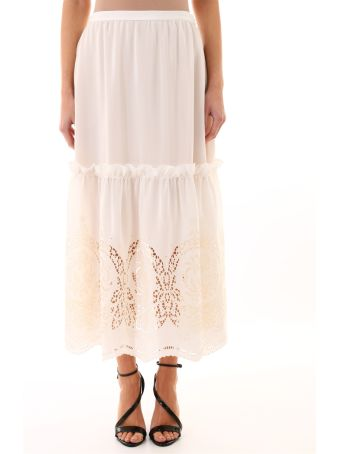 Stella McCartney Silk Skirt Macramè