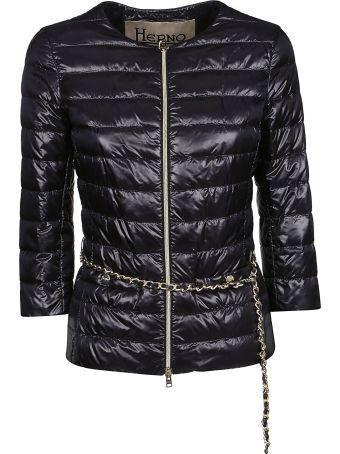 Herno Chain Belt Puffer Jacket
