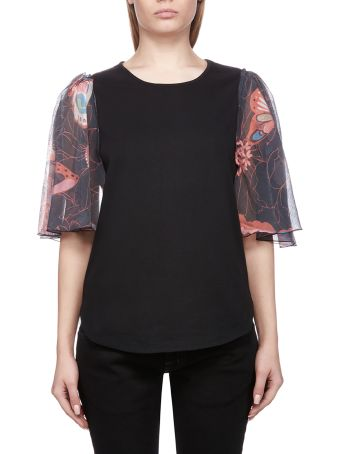 See by Chloé Butterfly-sleeved T-shirt