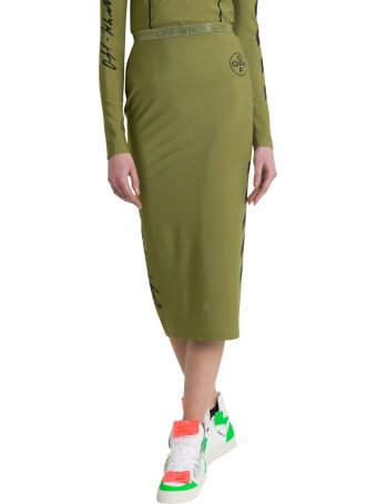 Off-White Military Diag Pencil Skirt