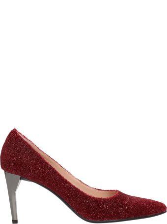 Lola Cruz Decollete In Red Glitter