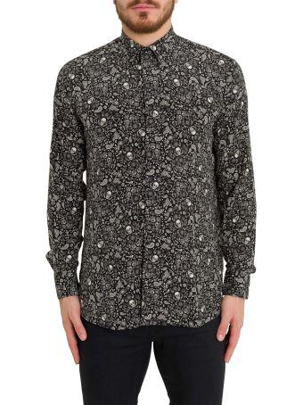 Saint Laurent Paisley Print Silk Shirt