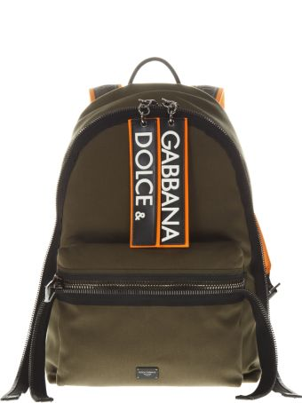 Dolce & Gabbana Dg Army Green Canvas Backpack