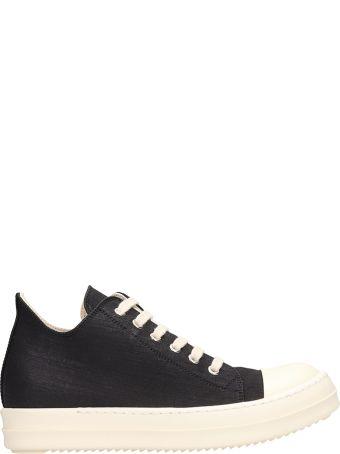 DRKSHDW Black Cotton Sneakers