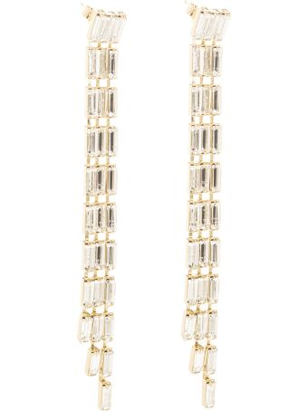 Rosantica Silver And White Barlume  Earrings