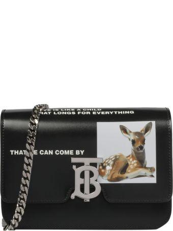 Burberry Small Tb Deer Print Shoulder Bag