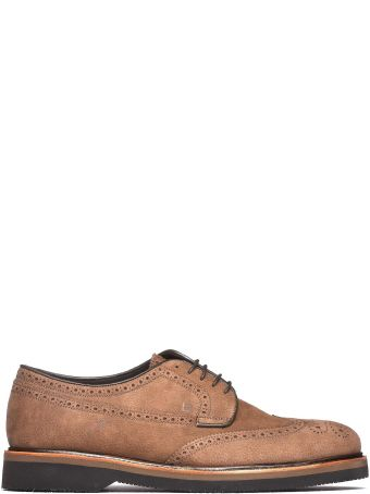 Fratelli Rossetti One Lace-up In Dove Grey Suede