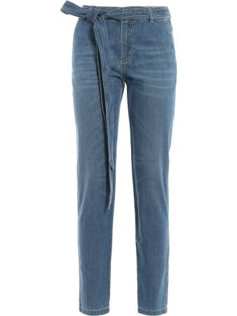 Ermanno Scervino Bow Fastening Jeans
