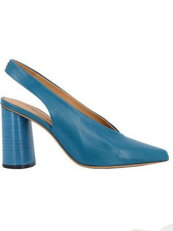 Halmanera Blue Leather Pumps