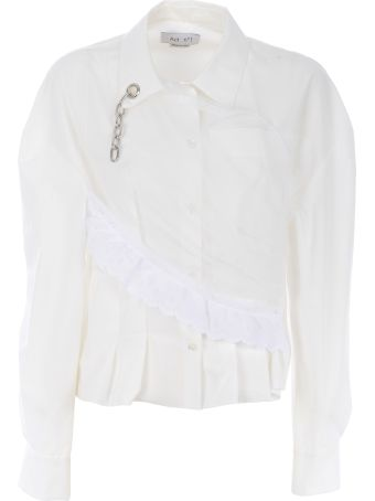Act n.1 Act N°1 Chain-detailed Pleated Shirt