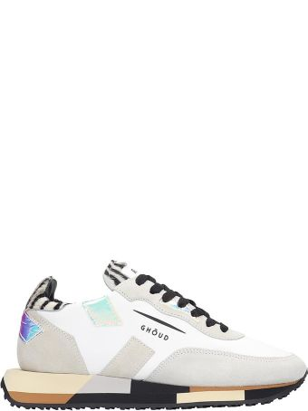 GHOUD Rush White Suede And Leather Sneakers