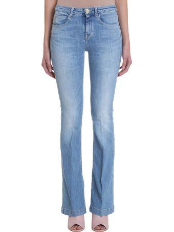 L'Autre Chose Blue Flared Denim Jeans