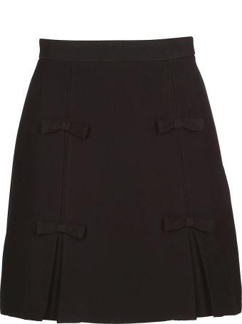 Miu Miu Bow Detailed Skirt