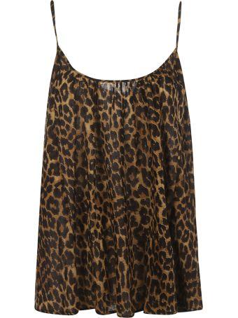 Mes Demoiselles Leopard Flared Top