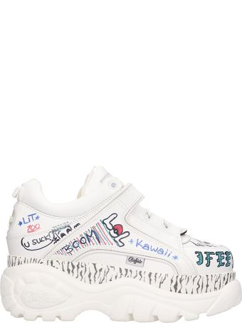 Buffalo Classic Platfo Sneakers In White Leather
