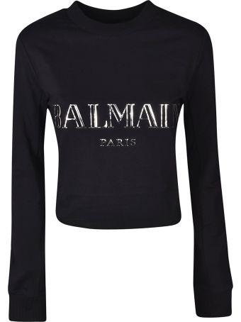 Balmain Logo Plaque Sweatshirt