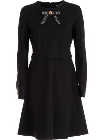 Emporio Armani Bow Applique Dress