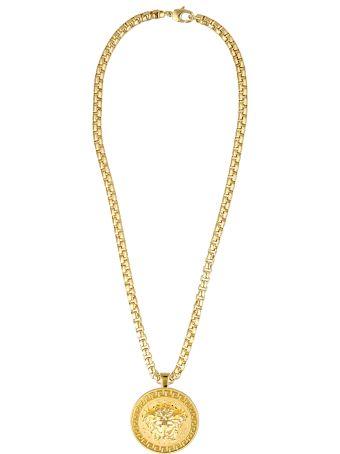 Versace Logo Medusa Necklace