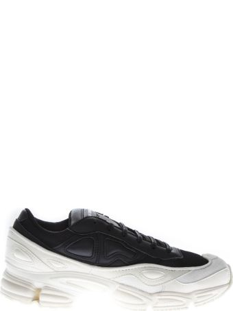 Adidas By Raf Simons Rs Ozweego Sneakers In White & Black Leather