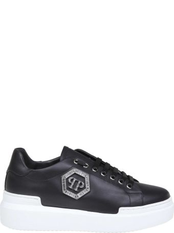 Philipp Plein Sneakers Lo-top Crystal In Leather Color Black